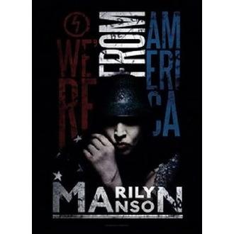 Zastava Marilyn Manson - American Graffiti, HEART ROCK, Marilyn Manson