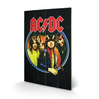Drvena slika AC / DC - Group, PYRAMID POSTERS, AC-DC