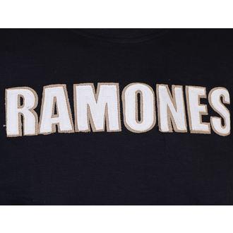 Majica metal muška Ramones - Logo & Seal Applique Slub - ROCK OFF, ROCK OFF, Ramones