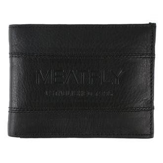 Novčanik MEATFLY - Hurricane Leather - Crni kožni, MEATFLY