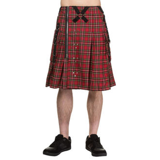 Muški kilt DEAD THREADS - Red Tartan, DEAD THREADS