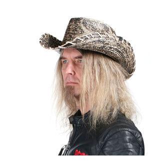 Šešir WORNSTAR - Hellrider HS Black & Natural Rocker Cowboy, WORNSTAR