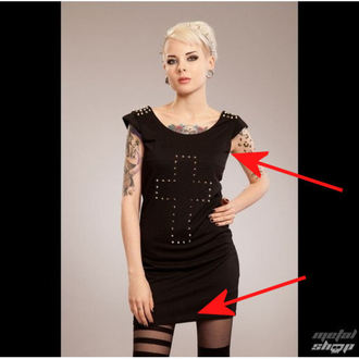 haljina ženske POIZEN INDUSTRIES - Cross Spike - Black - OŠTEĆENO, POIZEN INDUSTRIES