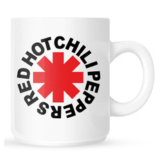 Šalica Red Hot Chili Peppers - Original Logo Astrisk - White, Red Hot Chili Peppers
