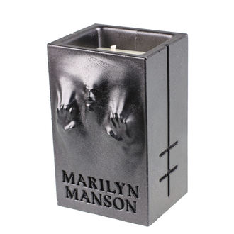 Svijeća MARILYN MANSON - BLACK METALLIC - PLASTIC HEAD, PLASTIC HEAD, Marilyn Manson