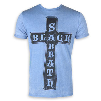 Muška metal majica Black Sabbath - Burnout Mid Blue - ROCK OFF, ROCK OFF, Black Sabbath