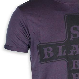 Muška metal majica Black Sabbath - Izgorjeti Mornarica / crvena - ROCK OFF, ROCK OFF, Black Sabbath