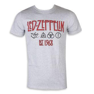 Muška majica Led Zeppelin - simboli  EST  68 Sportski Siva, NNM, Led Zeppelin