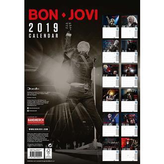 Kalendar za godinu 2019. BON JOVI, NNM, Bon Jovi