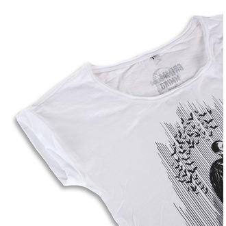 Ženska hardcore majica - DRACULA WHITE - GRIMM DESIGNS