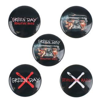 Bedževi Green Day - Revolution Radio - RAZAMATAZ, RAZAMATAZ, Green Day