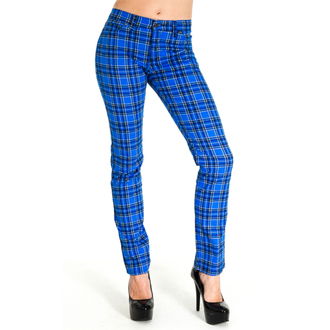 hlače (unisex) 3RDAND56th - Tartan Mršav Denimice - Plavo / Tartan, 3RDAND56th