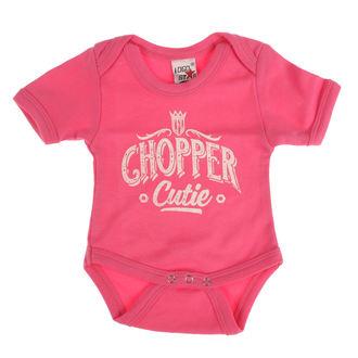 Dječji Bodi WEST COAST CHOPPERS - ONESIE CHOPPER CUTIE BABY CREEPER - Ruža, West Coast Choppers