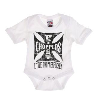 Dječji Bodi WEST COAST CHOPPERS - ONESIE LITTLE CHOPPERFUCKER BABY CREEPER - White, West Coast Choppers