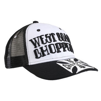 Kapa WEST COAST CHOPPERS - CLUTCH LOGO ROUND BILL - Crna, West Coast Choppers