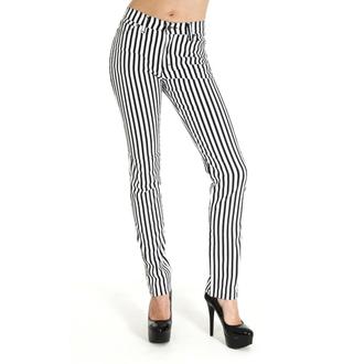 hlače (unisex) 3RDAND56th - Prugast Mršav - Crno / Bijelo, 3RDAND56th