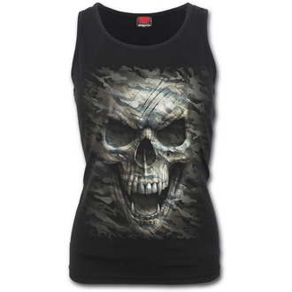 Ženska majica SPIRAL - CAMO-SKULL - Black, SPIRAL