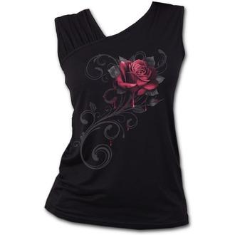 Ženski top SPIRAL - ROSE SLANT - Black, SPIRAL