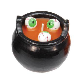 Halloween svijeća KOTAO S OČIMA - Orange