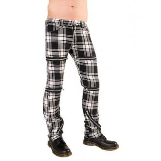 Hlače ženske BLACK PISTOL - Destroy Pants Tartan (Crno / Bijela), BLACK PISTOL