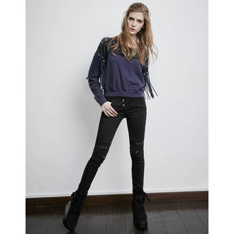 Ženske hlače PUNK RAVE - Black Wire, PUNK RAVE