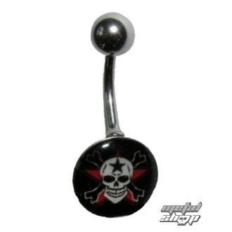Piercing nakit Skull - 1PCS - L 096