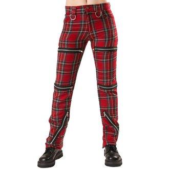 Hlače ženske BLACK PISTOL - Destroy Pants Tartan Crven, BLACK PISTOL