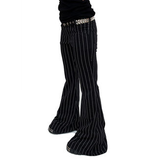 Hlače ženske Način Wichtig - Flares Pin Pruga Crno-bijela, MODE WICHTIG