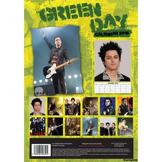 Kalendar za 2018 godinu GREEN DAY, NNM, Green Day