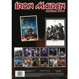 Kalendar za za godinu 2019 - Iron Maiden, NNM, Iron Maiden