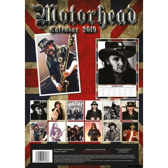 Kalendar za za godinu 2019 - Motorhead, NNM, Motörhead