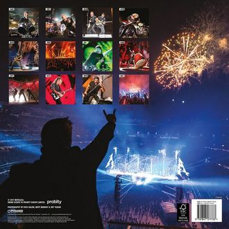 Zidni kalendar za 2018 METALLICA, Metallica