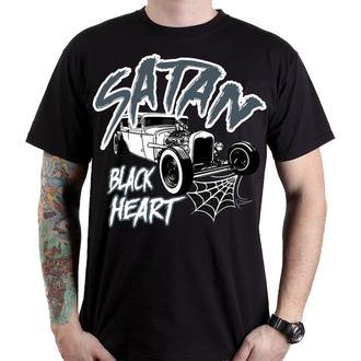 Muška ulična majica - SATAN - BLACK HEART, BLACK HEART