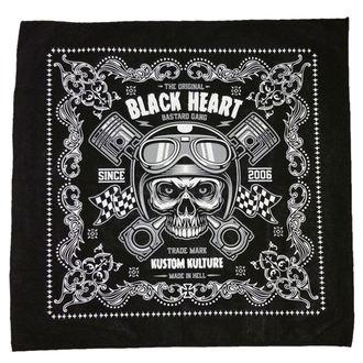 Marama BLACK HEART - PISTON SKULL - BLACK, BLACK HEART