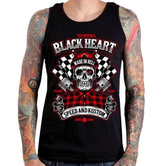Muški top BLACK HEART - SPEED AND KUSTOM SKULL - CRNI, BLACK HEART