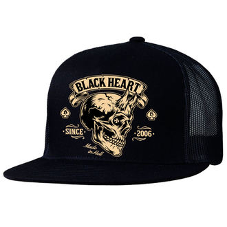 Kapa BLACK HEART - DEVIL SKULL - CRNA, BLACK HEART