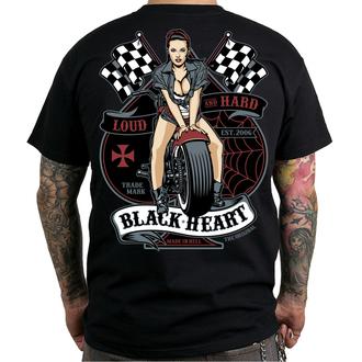 Muška ulična majica - LOUD AND HARD - BLACK HEART, BLACK HEART