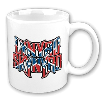 Šalica Lynyrd Skynyrd - Confederate logo Bijelo, ROCK OFF, Lynyrd Skynyrd