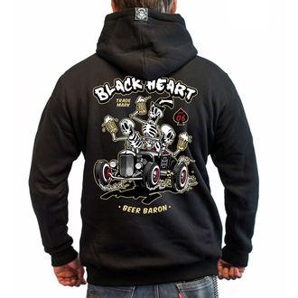Muška majica s kapuljačom - BEER BARON - BLACK HEART, BLACK HEART