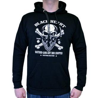 Muška majica s kapuljačom - ROBBER - BLACK HEART, BLACK HEART