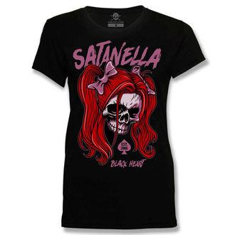 Ženska ulična majica - SATANELLA - BLACK HEART, BLACK HEART