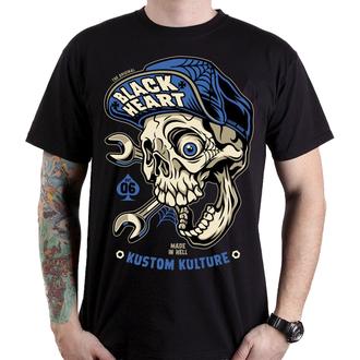 Muška ulična majica - MECHANIC - BLACK HEART, BLACK HEART