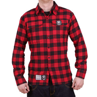 Muška košulja BLACK HEART - REDNECK - CRVENA, BLACK HEART