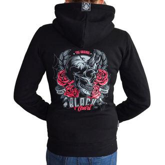 Ženska majica s kapuljačom - DEVIL ROSE - BLACK HEART, BLACK HEART