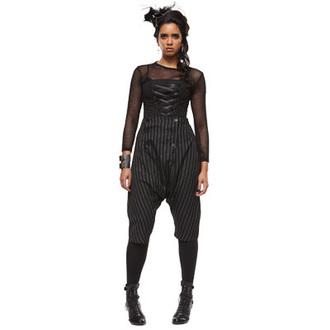 trousers ženske 3/4 PAKAO BUNNY 'Napoleon trousers crno / bijeli pinstri' 5213, HELL BUNNY