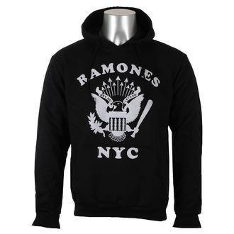 mikina pánská Ramones - Retro Eagle NYC - Black - ROCK OFF, ROCK OFF, Ramones