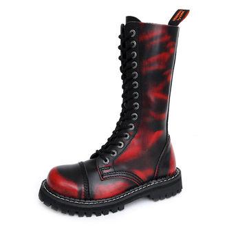 cipele KMM 14dírkové - Crvena / crna, KMM