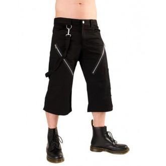 kratke hlače 3/4 muški BLACK PISTOL - Zatvarač Kratak Hlače Denim Black, BLACK PISTOL