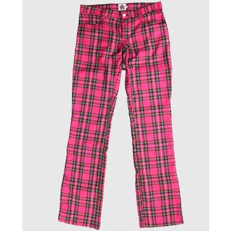 hlače BLACK PISTOL - Hipster Tartan Pink, BLACK PISTOL