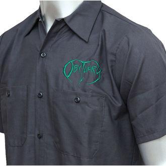 košulja muška Posmrtnica - EMB Logo - Grn / ugljen - JSR, Just Say Rock, Obituary